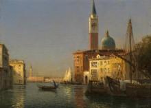 Вид на канал в Венеци - Бувар, Антуан