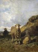 Пастух и овцы - Труайон, Констан