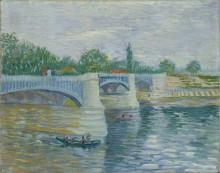 Сена и мост на Гранд Жатт (The Seine with the Pont de la Grande Jette), 1887 - Гог, Винсент ван