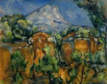Гора Сент-Виктуар с карьером - Сезанн, Поль