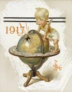 Ангелок на глобусе