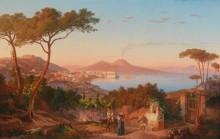 Вид на Неаполитанский залив - Гёцлоф, Карл
