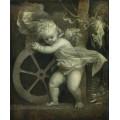 Купидон с колесом фортуны - Тициан Вечеллио