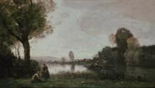 Пейзаж в окресностях Сены - Коро, Жан-Батист Камиль