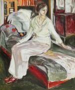 Модель, сидящая на кушетке - Мунк, Эдвард