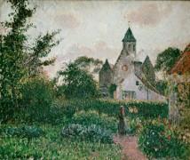 Церковь в Кнокке, Бельгия - Писсарро, Камиль