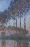 Тополя на берегу реки Эпт в сумерках, 1891 - Моне, Клод