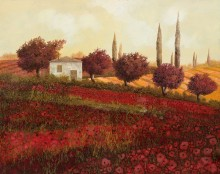 Маковое поле в Тоскане - Борелли, Гвидо (20 век)