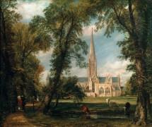 Вид на собор в Солсбери из епископских садов - Констебль, Джон