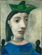 Женщина в зеленой шляпке - Пикассо, Пабло