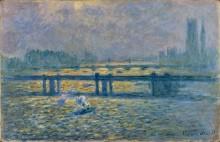 Мост Чаринг-Кросс, отражения на Темзе - Моне, Клод