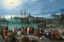 Портовый пейзаж с отправлением святого Павла из Кесарии - Брейгель, Ян (Старший)
