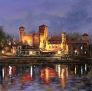 Ночной средневековый Турин - Борелли, Гвидо (20 век)