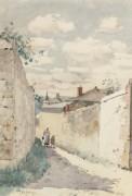 Улица в Овер-сюр-Уаз, 1883 - Хассам, Фредерик Чайлд