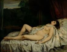 Спящая обнаженная - Курбе, Гюстав