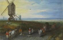 Пейзаж с ветряными мельницами - Брейгель, Ян (Старший)