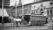 Трамвай на конной тяге в Нью-Йорке