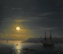 Пейзаж в Константинополе в лунную ночь - Айвазовский, Иван Константинович