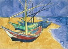 Лодки в Сент-Мари (Boats at Saintes-Maries), 1888 - Гог, Винсент ван