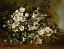 Ветка цветущей яблони - Курбе, Гюстав