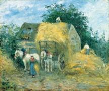 Повозка с сеном, Монфуко - Писсарро, Камиль
