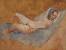 Лежащая обнаженная (Фернанда) - Пикассо, Пабло