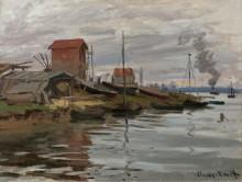 Сена в Пти-Женвилье, 1872 - Моне, Клод