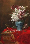 Натюрморт с цветами в вазе - Руби, Альфред