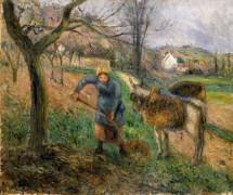 Крестьянка с осликом, Понтуаз - Писсарро, Камиль