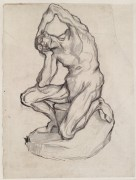 Kneeling Ecorche, 1887 - Гог, Винсент ван