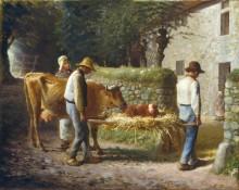 Теленок, родившийся в поле - Милле, Жан-Франсуа