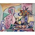 Мандолина и ваза с цветами - Пикассо, Пабло