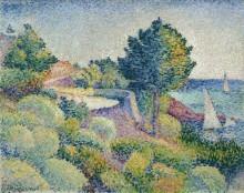 Пейзаж с дорогой из Лаванду в Сен-Клэр - Кросс, Анри Эдмон
