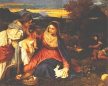 Мадонна с кроликом, 1530 - Тициан, Вечеллио