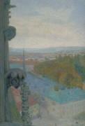 Нанси, вид кафедрального собора, осень, 1906 - Коль, Мишель-Огюст