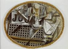 Натюрморт с плетеным креслом - Пикассо, Пабло