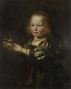 Портрет Гертруды Спигель с зябликом - Сантворт, Дирк ван