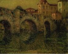 Мост в сумерках, Динан, 1911 - Сиданэ, Анри Эжен Огюстен Ле