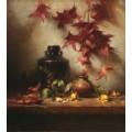 Глиняный горшок и осенние листья - Ридель, Давид