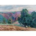 Пейзаж Крез, руины замка Крозан, 1905 - Гийомен, Арманд