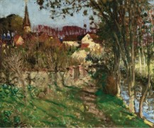 Вечер в Сен-Жермен-сюр-Авр (The Evening at Saint-Germain-sur-Avre) - Монтезин, Пьер Эжен