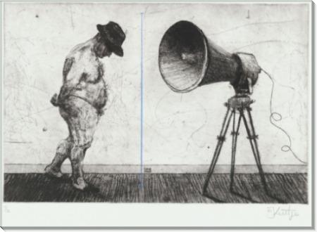 Человек с мегафоном - Кентридж, Уильям