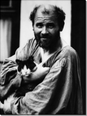 Густав Климт Холдинг со своей кошкой