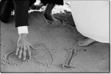 Любовная записка жениха на песке -  Кертис , Штраус