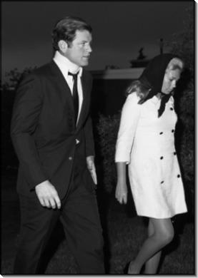 Сенатор Эдвард Кеннеди с женой Джоан