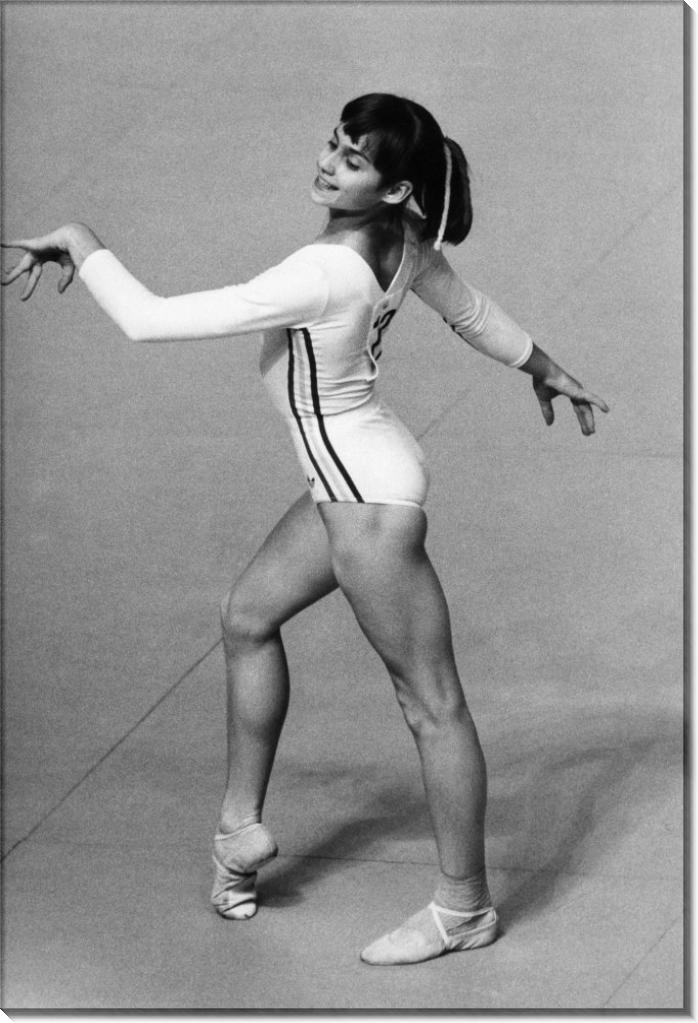 Выступление Нади Команечи в вольных упражнениях
