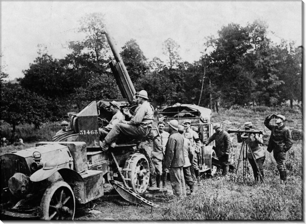 Французская зенитное орудие в битве на Сомме