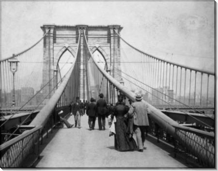 Аллеи на Бруклинском мосту в Нью-Йорке - Джонстон, С.