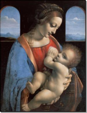 Мадонна с младенцем (Мадонна Литта) - Винчи, Леонардо да