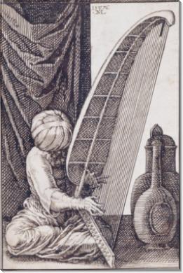 Мужчина, играющий на арфе - Мельхиор, Лорх